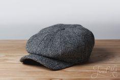 b8a25930c1145 Grey Kells Tweed 8-piece Cap by Hanna Hats Caps Hats