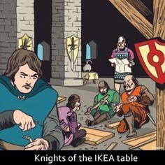 Los caballeros de la mesa redonda de Ikea