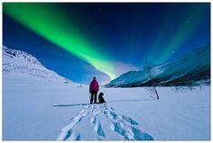 Under nordlyset by Kim G. Skytte, via Flickr