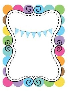 Borders For Paper, Borders And Frames, Diy And Crafts, Paper Crafts, School Frame, Cute Frames, Page Borders, Binder Covers, Classroom Decor