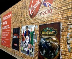 Exhibition stand graphics by Mustard Solutions for Virgin Media, 2012 www.mustardsolutions.co.uk Virgin Media, Types Of Work, Ea Sports, World Of Warcraft, Mustard, Challenges, Graphics, Charts, Graphic Design