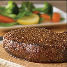 Outback Steakhouse * STEAK MARINADE * Beer or Ale * 4 simple ingredients ** photo and recipe courtesy of Outback Steakhouse * Sirloin Steak Recipes, Steak Marinade Recipes, Meat Marinade, Grilling Recipes, Beef Recipes, Cooking Recipes, Yummy Recipes, Outback Steak Seasoning, Restaurant Recipes
