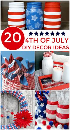 DIY 4th of July Decorations - so many awesome things to make for your Independence Day decor.