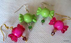 Candy Earrings - Kids Jewelry - Green earrings - Pink Earrings - Girls jewelry - Kawaii Jewelry - One pair only