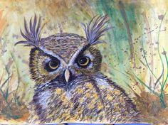 dawnauror5426017's Owl in Painting Wildlife: Acrylic Mixed Media  @ www.Craftsy.com