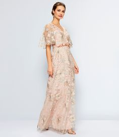 c6f89f17dc9a David Meister Soft Embroidered Beaded Gown