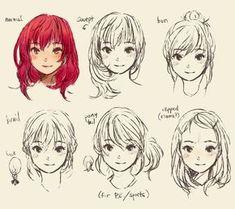 cute doodle hair style manga by geneme
