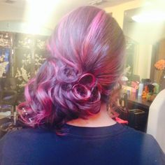 Side hair do with curls