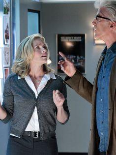 Elisabeth Shue and co-star Ted Danson on CSI: Crime Scene Investigation