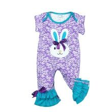 4beffe65b99 CONICE NINI wholesale Hot Baby Rompers Newborn Spring Cotton Bunny Clothes Infant  Children Easter Party Jumpsuits GPF712-028