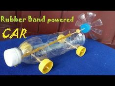 How to make a Rubber Band powered Car Air Car This video will show you how to make a very simple Rubber Band powered Car using plastic bottles. Cheap and remote control car Prepare Rubber Bands Plastic bottle Skewe Stem Projects, Science Projects, School Projects, Projects For Kids, Balloon Powered Car, Balloon Cars, Balloons, Stem Activities, Activities For Kids