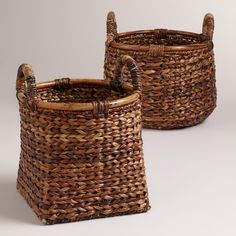 """Braided Rattan Brittany Baskets 