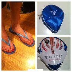 Great idea. Foldable flip flops that come in a small purse for your handbag. Ideal for a pedicure, beach, travel, gift and in your car www.flipsters.com