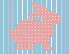 Full House Bunny Wallpaper Print by PaperDotDesigns on Etsy, $10.00