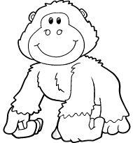 Colorear dibujo Gorila