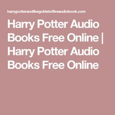listen to harry potter audio books
