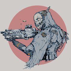 bounty hunter, Ching Yeh on ArtStation at https://www.artstation.com/artwork/JgGaz