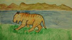 Um Tigre caminhando perto de um rio