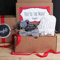 You're the Man Gift Box  Gift for Him / by ConfettiGiftCompany