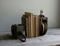 Barn+pully+lights | rustic pulley bookends set of two by ohalbatross on Etsy