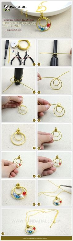 Jewelry Making Tutorial / In the ensuing homemade mothers day gift ideas, we will show you the way building a wire wrapped birthstone neckla...