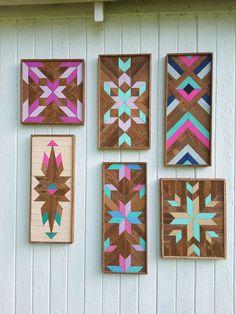 Reclaimed Wood Wall Art Wood Wall Decor Lath Art by PastReclaimed