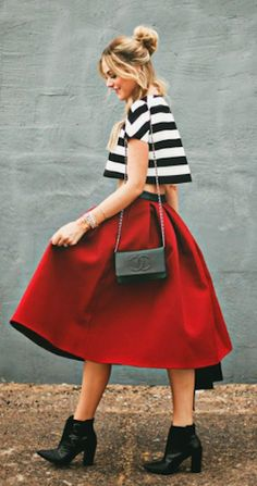pretty #red a line skirt http://rstyle.me/n/hrppvr9te