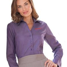 Red House Ladies French Cuff Non-Iron Pinpoint Oxford