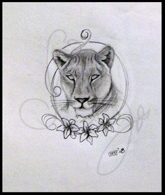 pencil sketch lioness - Google Search - looks more like a mountain lion than an african lion, but still...