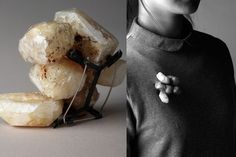 Xiao Liu Brooch: The Rice Stone - 2301307 2013 Rice, dust, silver