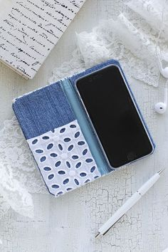 20170318_16 Diy Wallet Phone Case, Diy And Crafts, Arts And Crafts, Fabric Origami, Denim Crafts, Craft Business, Mobile Cases, Ipad, Phone Covers
