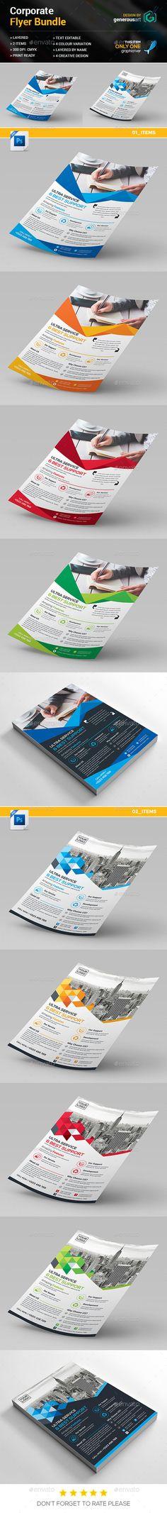 Flyer Templates PSD Bundle. Download here: https://graphicriver.net/item/flyer-bundle-2-in-1/17321515?ref=ksioks