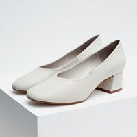 Image 10 of LEATHER BALLERINAS WITH HEEL from Zara