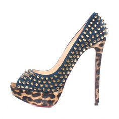 Christian Louboutin Heels | christian louboutin christian louboutin leopard spikes lady