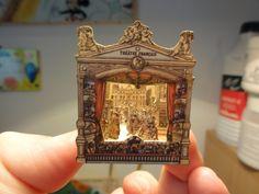 "Vintage French Theater, Catherine from Le Monde Cratif De Catherine, Agence Eureka ""Epinal"" Miniature Crafts, Miniature Dolls, Glamour Vintage, Pop Up Karten, Libros Pop-up, Art Postal, Tunnel Book, Vintage Ballet, Toy Theatre"