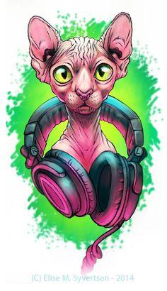 -Sphynx- by oomizuao on deviantART Cartoon Kunst, Cartoon Art, Graffiti Art, Sphinx Cat, Son Chat, Creation Art, Desenho Tattoo, Illustration Art, Illustrations
