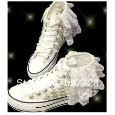 White Lace Wedding Sneaker,Handmade Canvas Flat Shoes,Comfortable Wedding Shoes US $75.00