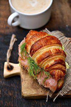 The flavors of Alsace: Breakfast of Champions and croissant with smoked salmon :)