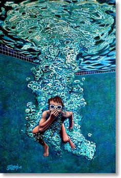 Gallery Quality Stretched Canvas Giclee The Plunge by gracegallery, $247.00