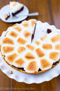 Homemade S'mores Brownie Pie by sallysbakingaddiction.com