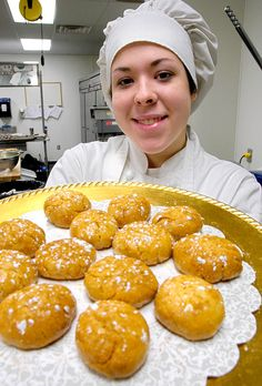 Students at the Institute for Culinary Arts at Mountain State University serve their pastries