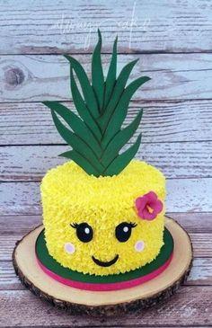 Hawaii Luau Party Ideen, Hawaii Luau Partyzubehör - [board_name] - Kuchen Flamingo Party, Flamingo Birthday, Flamingo Cake, Pinapple Cake, Pinapple Birthday Cake, Luau Cakes, Pool Party Cakes, Luau Party Supplies, Birthday Cake Decorating