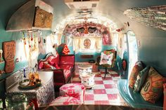 """""""I'll just admit it: My 1954 Airstream is basically a rolling bar. It builds camaraderie on the road after shows.""""—Miranda Lambert   - CountryLiving.com"""