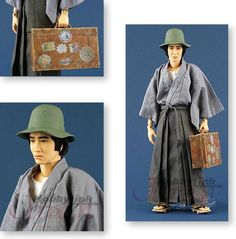 "Kosuke Kindaichi  (金田一 耕助 ) Detective created by Seishi Yokomizo.  From the book ""The Inugami Clan (犬神家の一族 Inugamike no Ichizoku""  in italiano: L'Ascia il Koto e il Crisantemo"