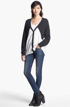 rag & bone Cardigan & rag & bone/JEAN Skinny Jeans  available at #Nordstrom