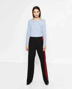 TROUSERS WITH SIDE BAND-Joggers-TROUSERS-WOMAN | ZARA United States