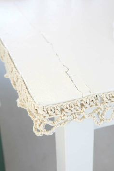 Crochet trim. Here's a free pattern for an interesting border/edging look. Anyone out there need to line the furniture with some lovely yarn?