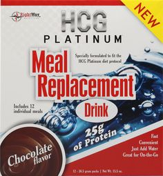 HCG Platinum Meal Replacement Drink Chocolate