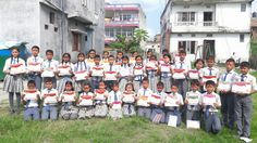 Scholarship prize distribution By Minervaa at Kanchanjunga Secondary Boarding School in Itahari, Nepal.   #Minervaa #Scholarship #examination #schoolstudents