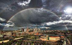 Rainbow over Denver, Colorado